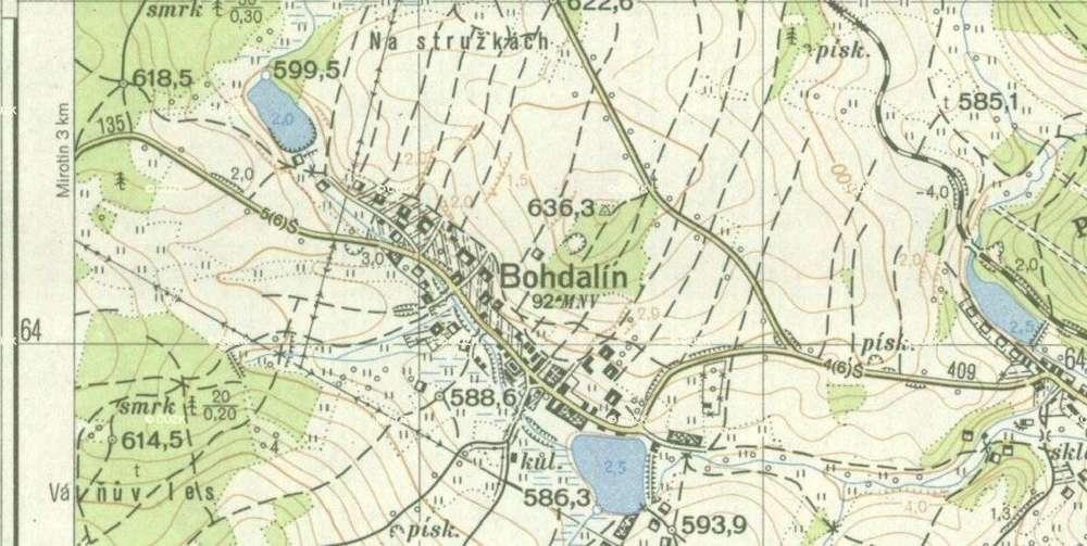 Topograficke Mapy Topo S 1952 Drobne Pamatky